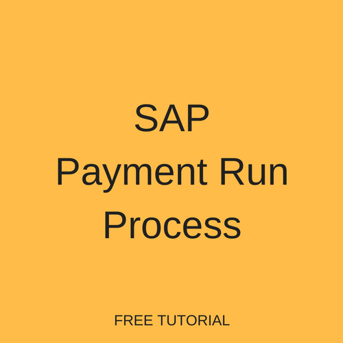SAP Payment Run Process