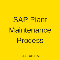 SAP Plant Maintenance Process