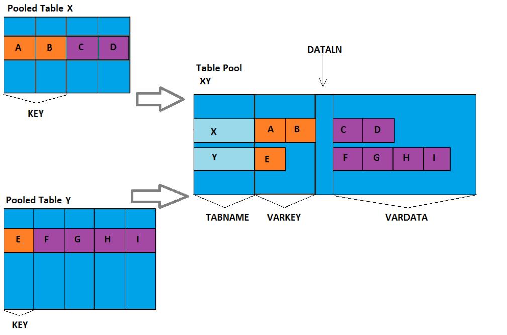 SAP Pooled Table Storage Model