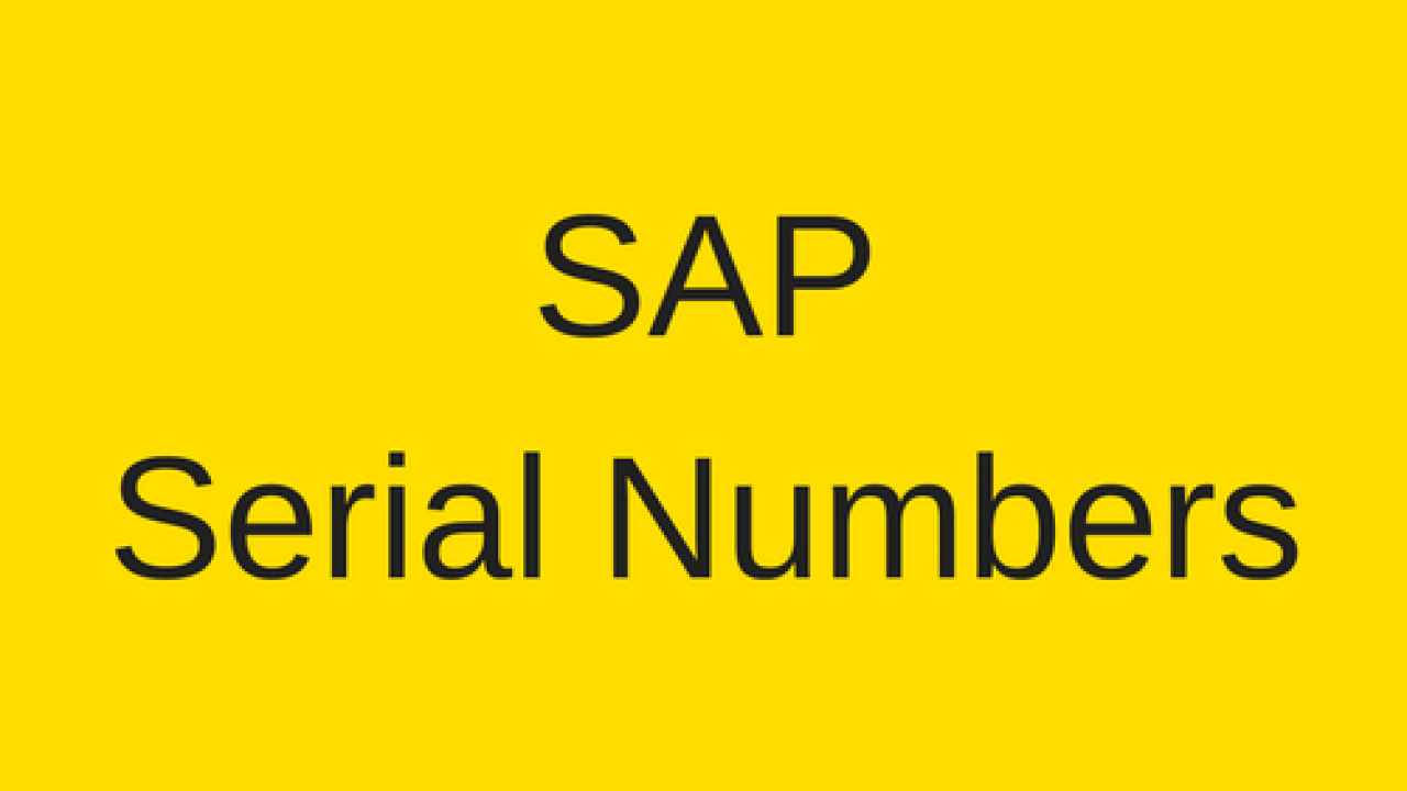 SAP Serial Numbers Tutorial - Free SAP PM Training