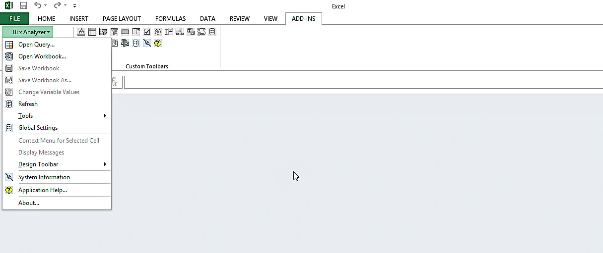 SAP BEx Analyzer