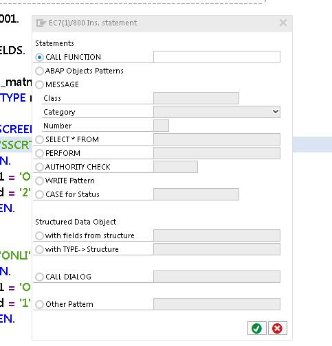 Pattern-Enabled ABAP Statements