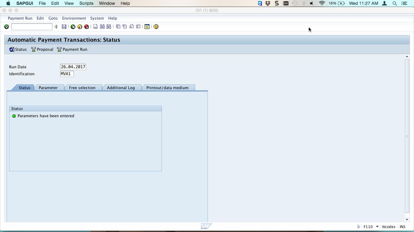 Payment Proposal Status Screen