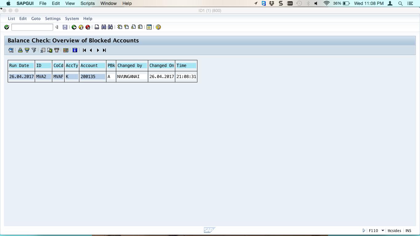 Change Blocked Accounts