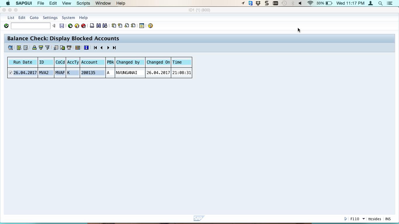 Display Blocked Accounts
