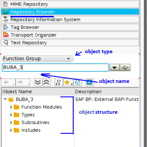 Opening Repository Object in Object Navigator
