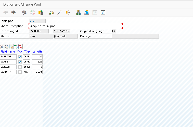 SAP Pool Attributes
