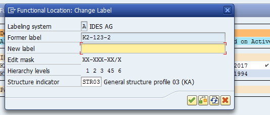 Change SAP Functional Location: New Label