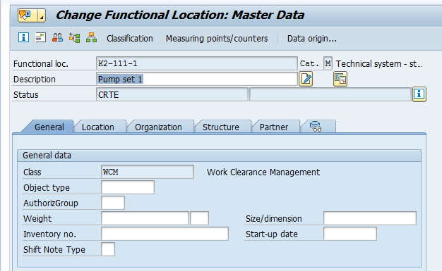 Change SAP Functional Location – New Label