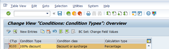 SAP Free Goods – Control of Free Goods Condition Type
