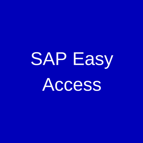 sap easy access sap training and certification