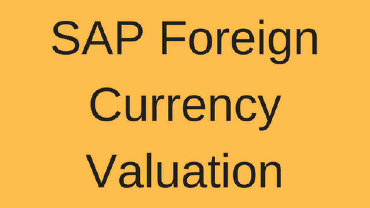 SAP Foreign Currency Valuation Tutorial - Free SAP FI Training