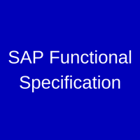 SAP Functional Specification
