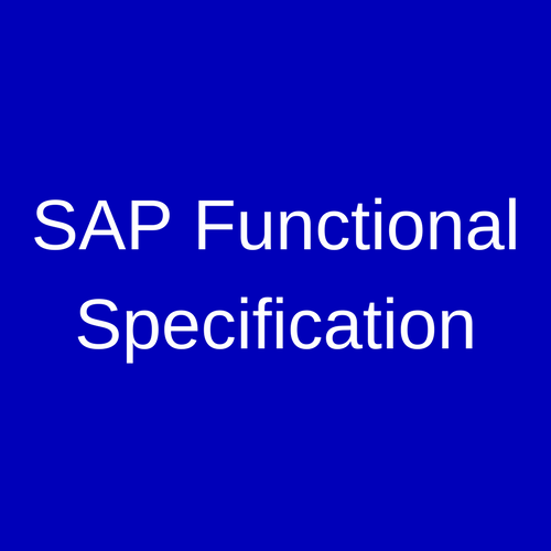 Sap functional specification erproof malvernweather Image collections