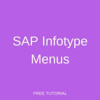 SAP Infotype Menus