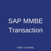 SAP MMBE Transaction