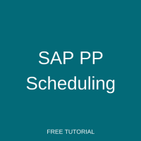 SAP PP Scheduling