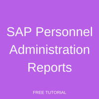 SAP Personnel Administration Reports