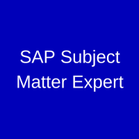 SAP Subject Matter Expert