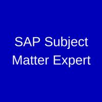 SAP Subject Matter Expert
