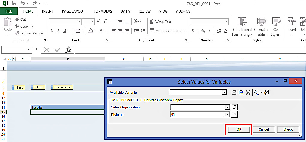 Select Values for Variables in SAP BEx Analyzer