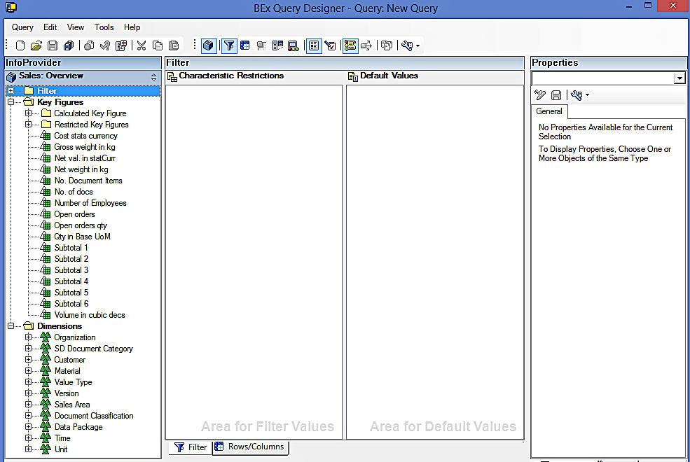 structure in bex query designer pdf