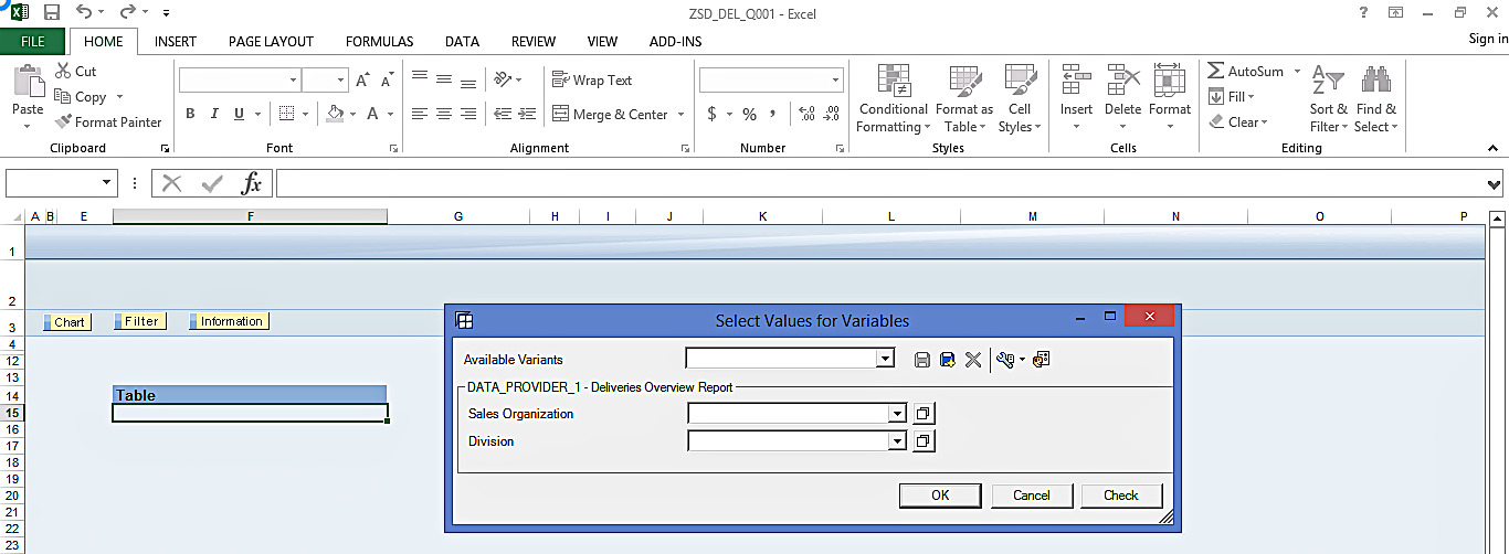 Query in SAP BEx Analyzer