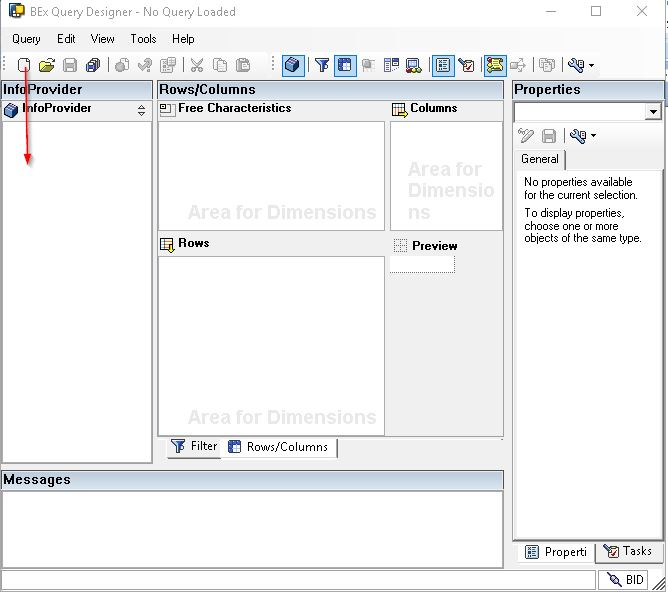 Creating New Query in Query Designer