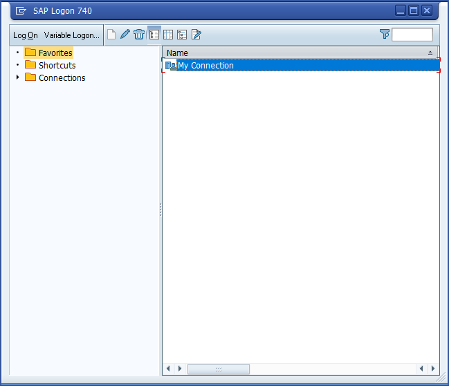 SAP Logon Window