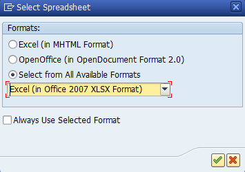 Figure 10: Export to Excel