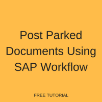 Post Parked Documents Using SAP Workflow