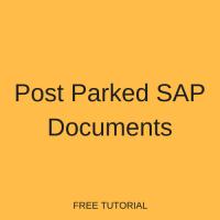 Post Parked SAP Documents
