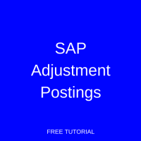 SAP Adjustment Postings