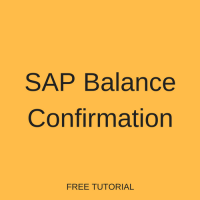 SAP Balance Confirmation