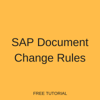 SAP Document Change Rules