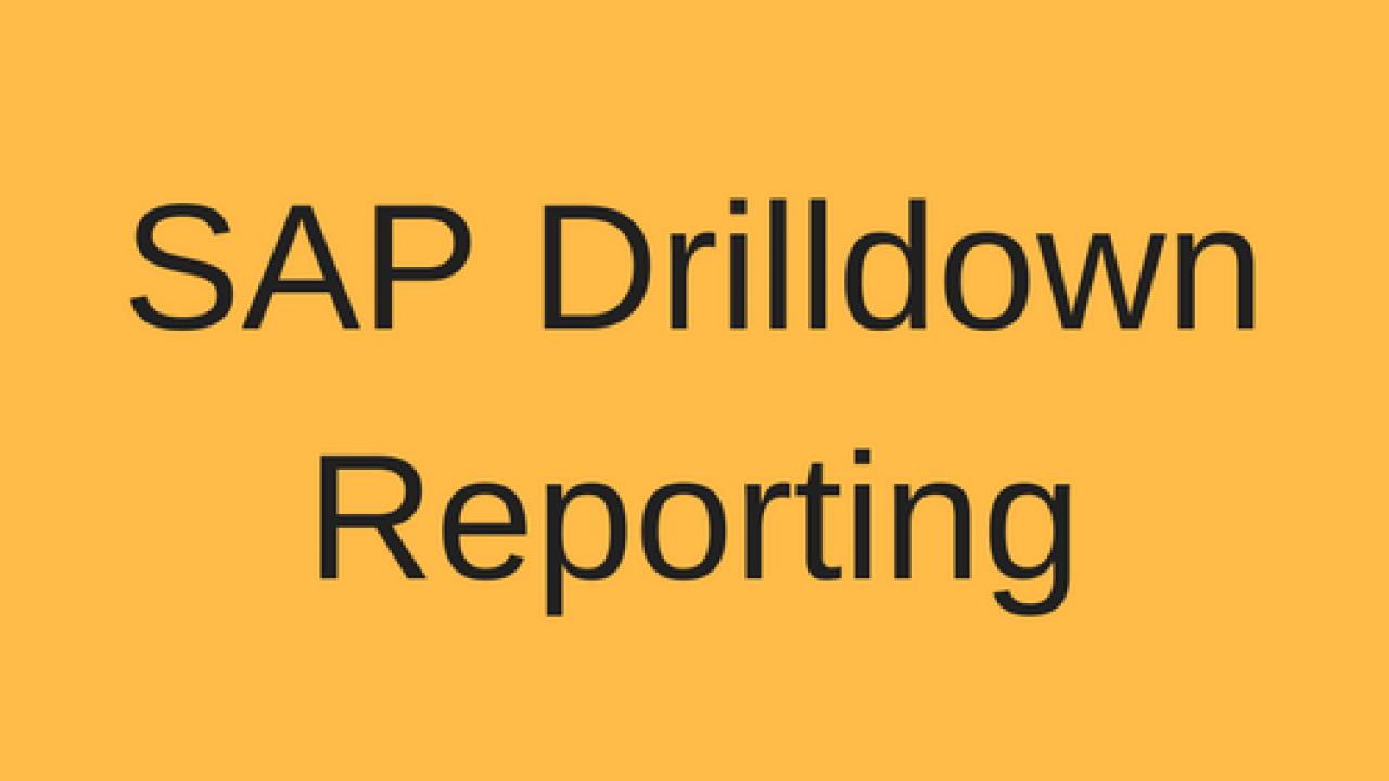 SAP Drilldown Reporting Tutorial - Free SAP FI Training
