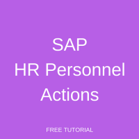 SAP HR Personnel Actions