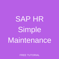 SAP HR Simple Maintenance