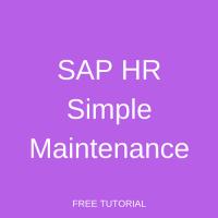 SAP HR Simple Maintenance