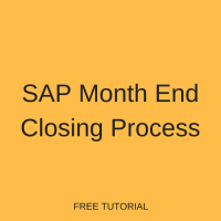 SAP Month End Closing Process