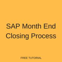 SAP Month End Closing Process