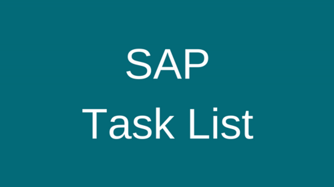 SAP Task List Tutorial - Free SAP PP Training