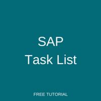 SAP Task List