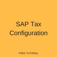 SAP Tax Configuration