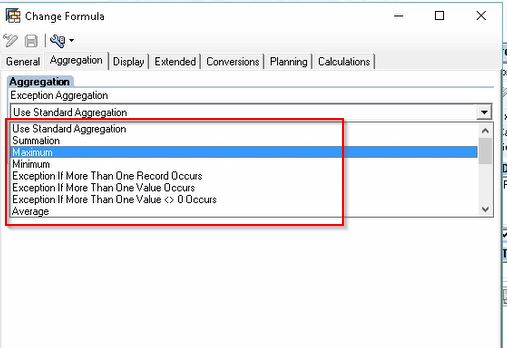 Exception Aggregation Options