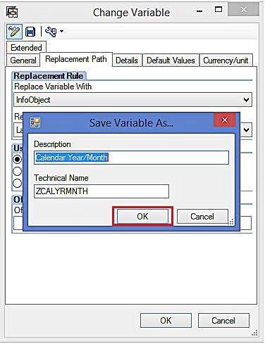 Saving the Variable