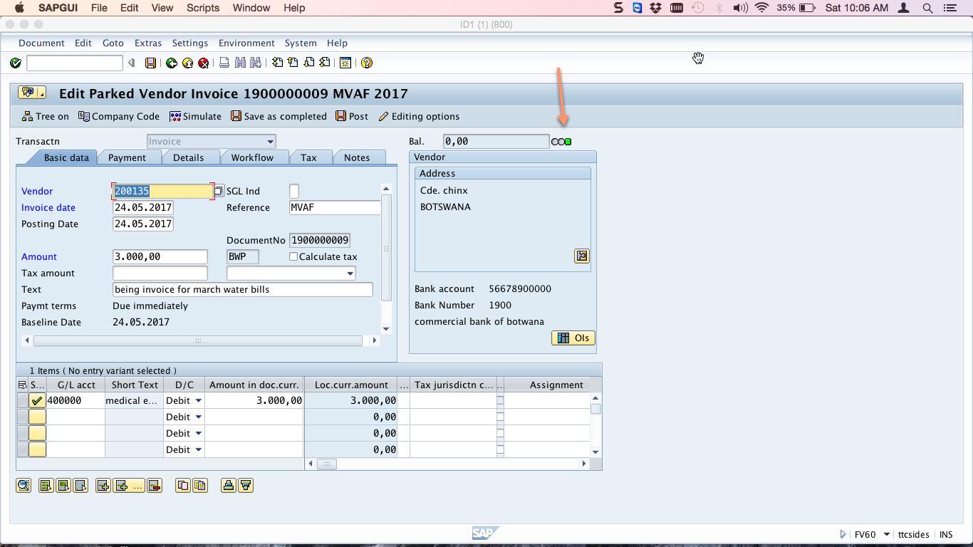 Document Status Indicator