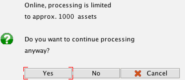 Depreciation Processing Limit Notification