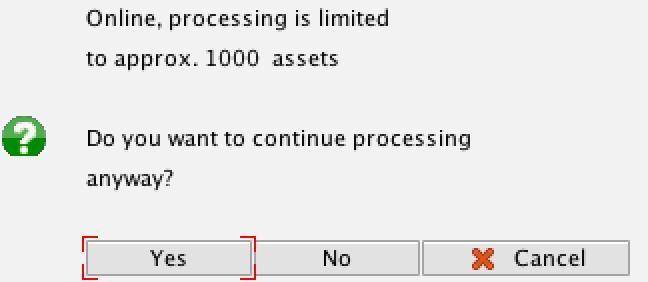 Depreciation Processing Limit Notification