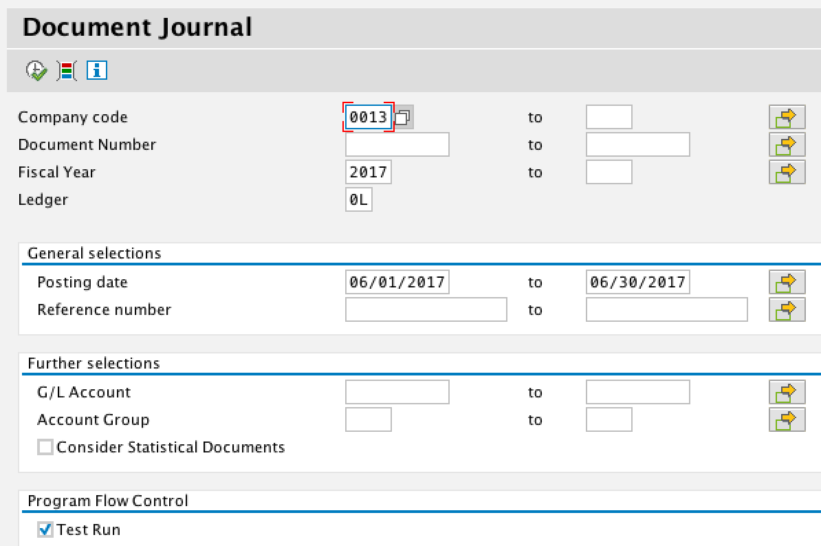 Document Journal Selection Criteria